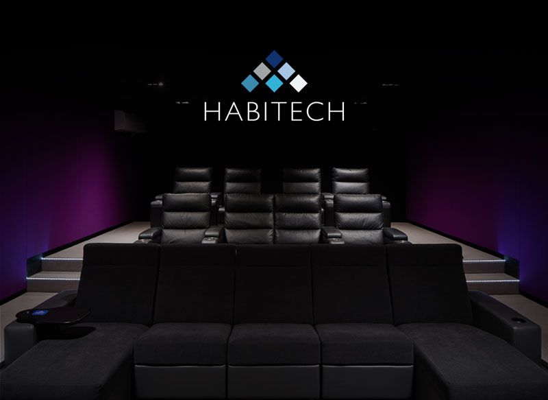 habitech home entertainment logo design