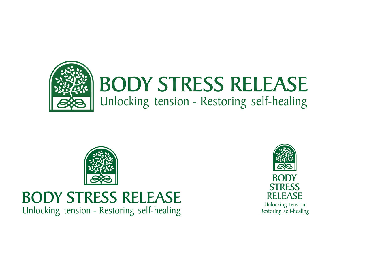 body stress rrelease logo design