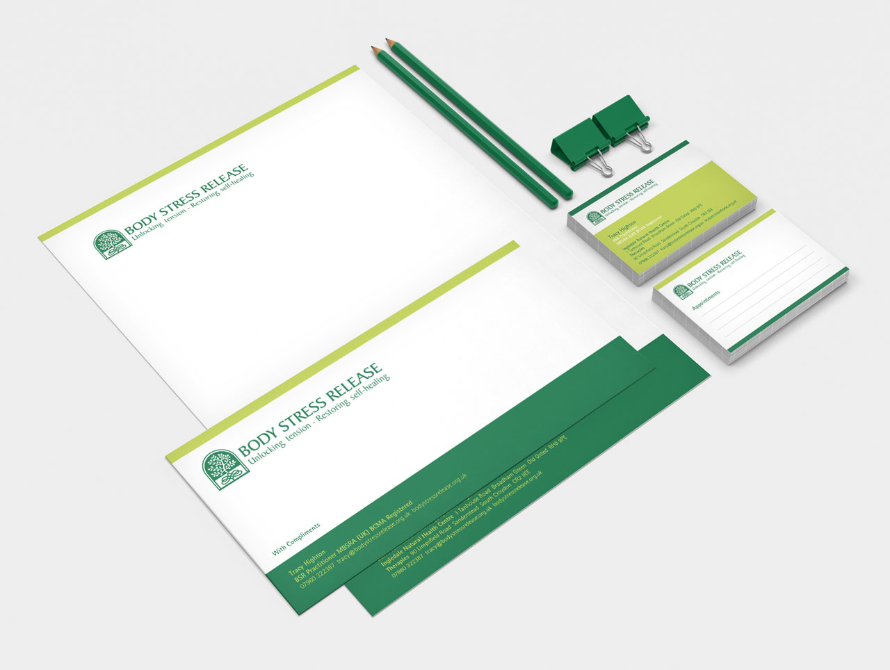 letterhead business cards compliment slip design