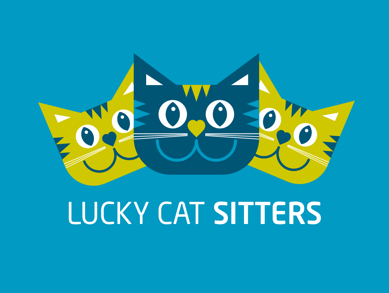 Lucky Cat Sitters brand identity