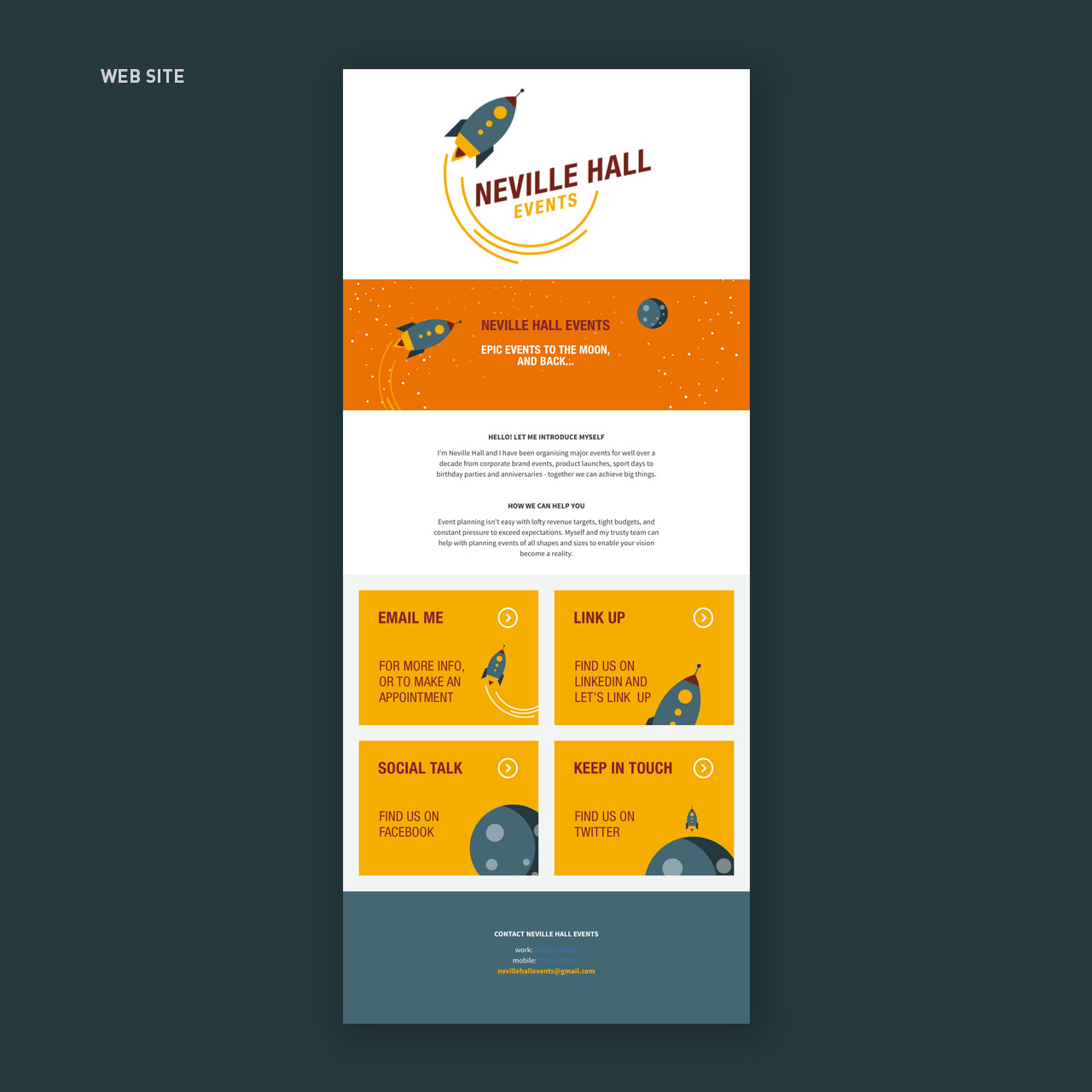 simple one page web site design
